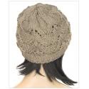 Klasyczna zimowa czapka damska z ażurowym splotem: grafitowa