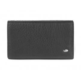 Damski portfel skórzany Nicole - czarny