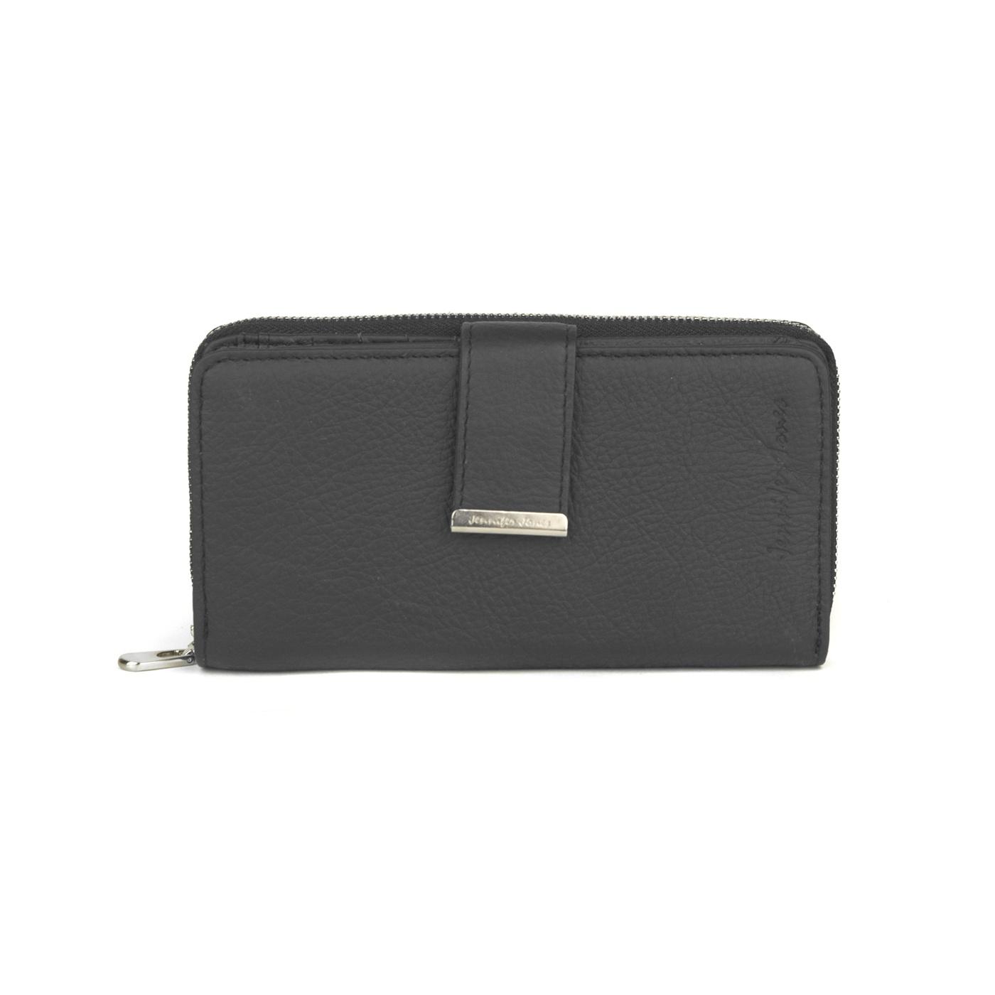 Damski portfel skórzany Jennifer Jones - czarny