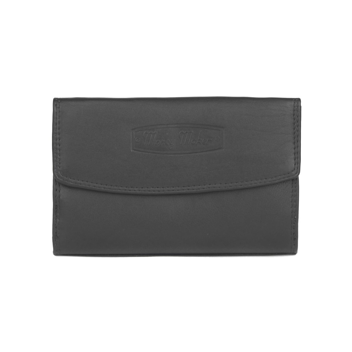 Damski portfel Money Maker - czarny - skóra naturalna