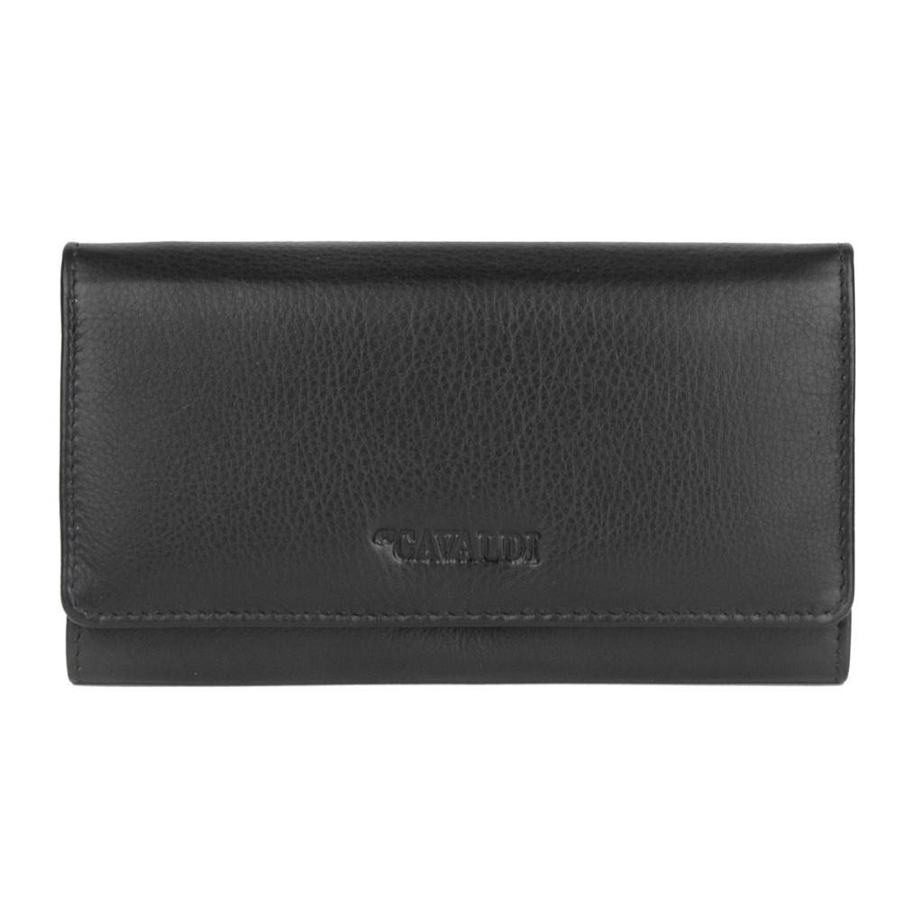 9969fc71c6b86 Damski portfel ze skóry 4U Cavaldi - czarny