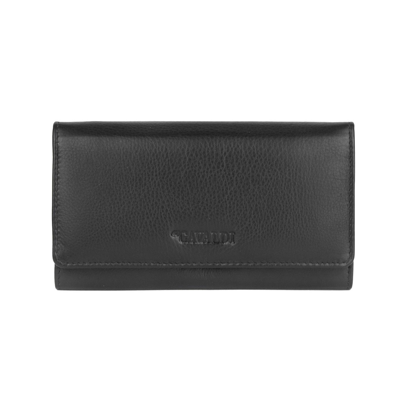 Damski portfel ze skóry 4U Cavaldi - czarny
