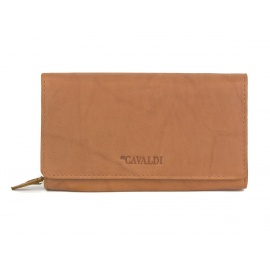 Damski portfel skórzany 4U Cavaldi - camel