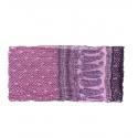 Szalik komin wzorzysty – odcienie fioletu