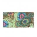 Apaszka w kolorowe pióropusze – seledynowa