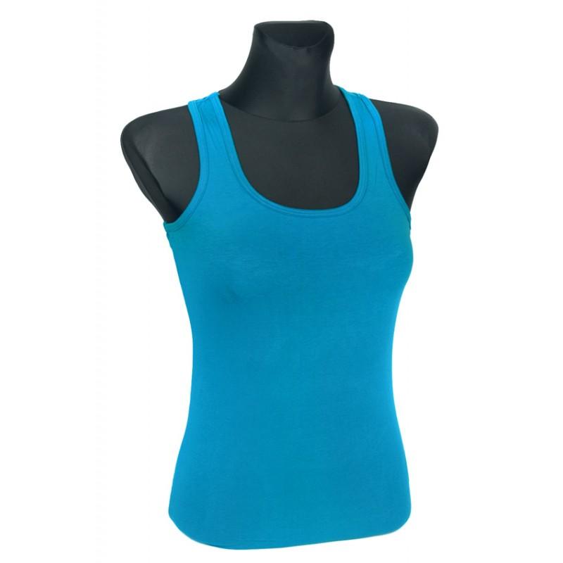 Bluzka damska bokserka – niebieski