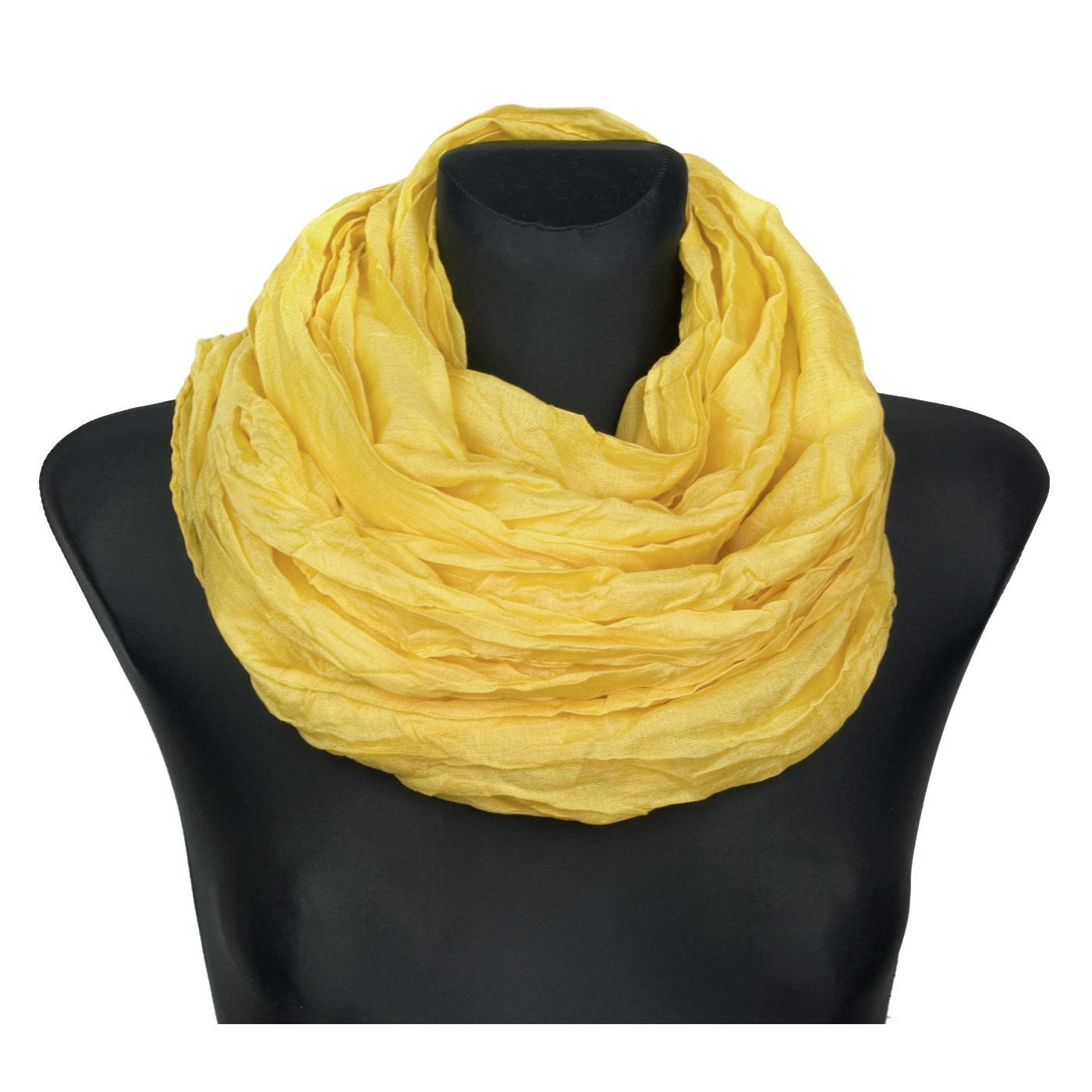 Szalik komin jednokolorowy – żółty