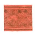 Szalik wzorzysty - łososiowy z brązowym