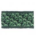 Apaszka wzorzysta w piórka – czarny z zielenią