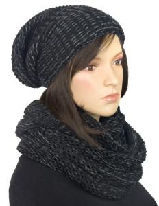 Komplet zimowy - czapka krasnal i komin