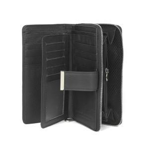Damski czarny portfel skórzany Jennifer Jones