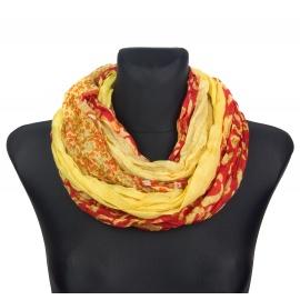 Apaszka wzorzysta (256) – żółty z czerwonym