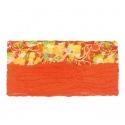 Apaszka w kwiaty - oranż z żółtym