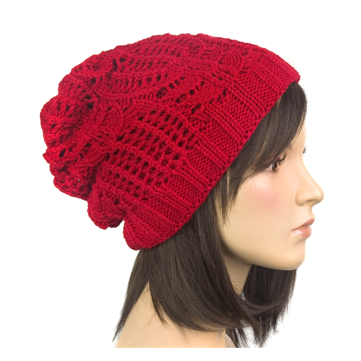 Efektowna damska czapka zimowa krasnal: cappuccino