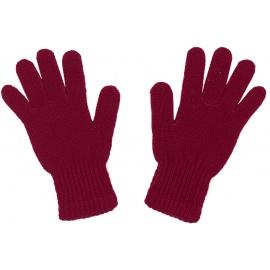 Damskie rękawiczki zimowe : bordowe