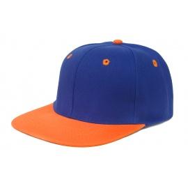 Czapka fullcap neonowa – niebieski / oranż