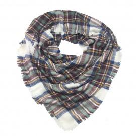 Duża chusta szal w kratę (1)