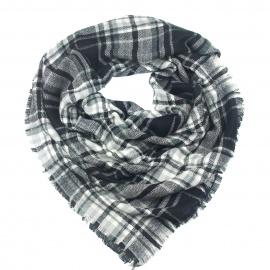 Duża modna chusta szal w kratę (12)