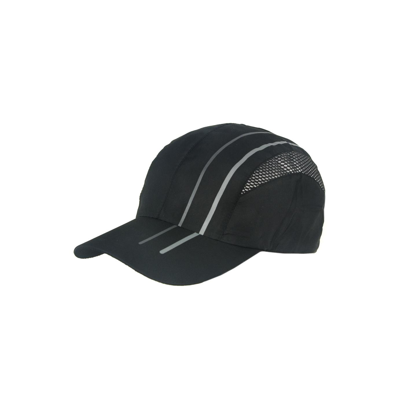Lekka wentylowana czapka z daszkiem – czarna z siateczką