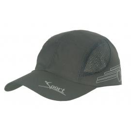 Lekka wentylowana czapka z daszkiem – szara grafitowa z siateczką