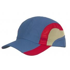 Kolorowa wentylowana czapka z daszkiem – niebieska