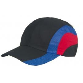 Kolorowa wentylowana czapka z daszkiem – czarna