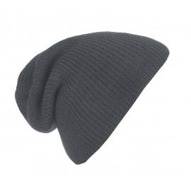 Męska czapka bezszwowa beanie 3w1 Tony - szara grafitowa
