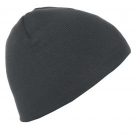 Męska czapka zimowa - grafitowa