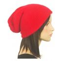 Czapka damska zimowa z angory - czerwona