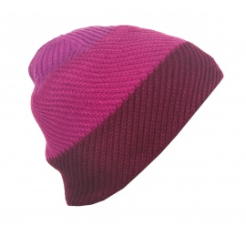 Czapka zimowa damska 3 kolory - bordowy/różowy/fiolet