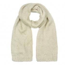 Zimowy damski szalik mohair - beżowy