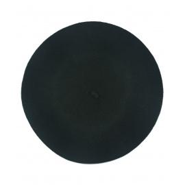 Klasyczny damski beret wełniany – czarny