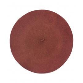 Klasyczny damski beret wełniany – rudy