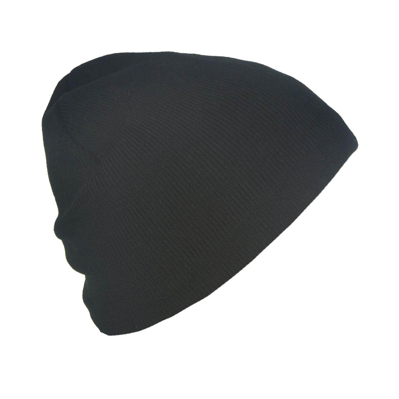 Męska czapka zimowa podszyta polarem - czarna