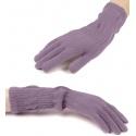 Damskie długie rękawiczki - wrzosowe fioletowe