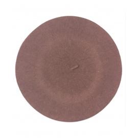 Klasyczny damski beret wełniany – brudny różowy