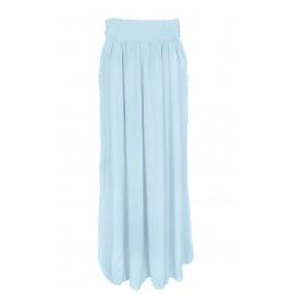 Długa spódnica z kieszeniami – błękitna