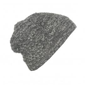 Męska czapka zimowa - szary melanż