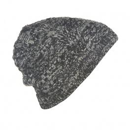 Męska czapka zimowa Roger - czarny melanż