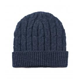 Męska czapka zimowa z wywinięciem Lolek – granatowa
