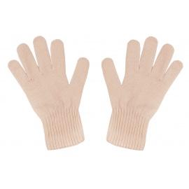 Damskie rękawiczki zimowe : pudrowy morelowy