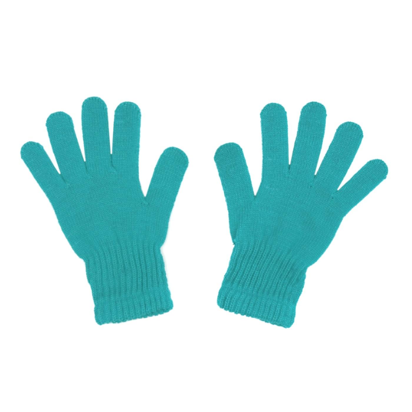 Damskie rękawiczki zimowe: turkusowe (jasne)