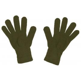 Damskie rękawiczki zimowe: ciemne oliwkowe zielone