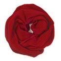Damski szalik komin: czerwony