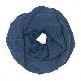 Damski szalik komin: jeansowy niebieski