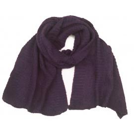 Puszysty damski szalik w warkocze - fioletowy