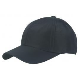 Męska zimowa sztruksowa czapka z daszkiem - czarna