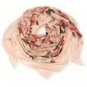 Chusta w róże i łańcuchy - pudrowa różowa
