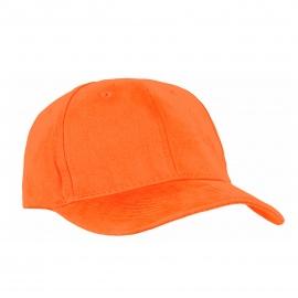 Czapka z daszkiem bejsbolówka – oranż pomarańczowy