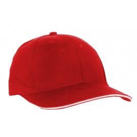 Czapka z daszkiem bejsbolówka – czerwony z białym akcentem w daszku